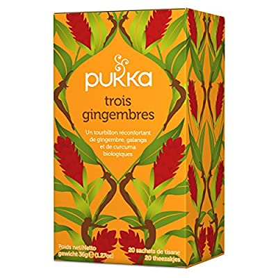 Pukka infusion Ayurvedique bio Trois gingembres - 20 infusettes