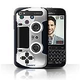 Stuff4 Hülle / Case für Blackberry Classic/Q20 / Weiß Muster / Playstation PS4 Kollektion