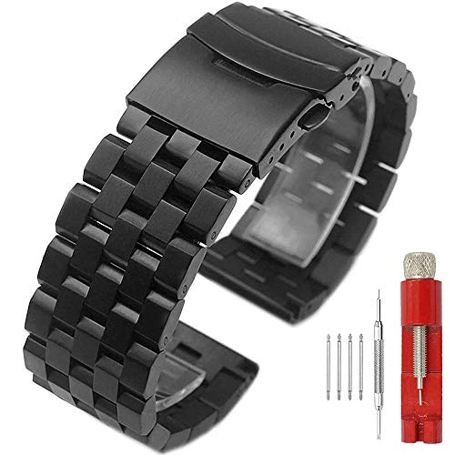 Watches Responsible Stainless Steel Watchband Curved End Strap For Montblanc Men Women Watch Band Butterfly Clasp Wrist Bracelet 18mm 20mm 22mm 24mm