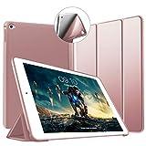 VAGHVEO iPad Mini 4 Hülle - Ultra Slim Leichtgewicht Trifold Ständer Schutzhülle [Auto aufwachen/Schlaf] mit Schützender weicher TPU Rückseite Smart Cover für Apple iPad A1538 / A1550 (Roségold)