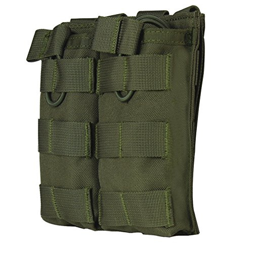 Zdmathe Tactical Soft Double Open Top Mag Pouch M4 M16 AR-15 Type Magazine Pouch Airsoft MOLLE Mag Pouch -