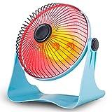Ozktlife Calentadores Eléctricos Estudiantes Oficina Home Desktop Calefacción Mini Tubo De Cuarzo Tipo Pequeño Calentador Solar Estufa Ventilador Eléctrico,Blue,Usplug