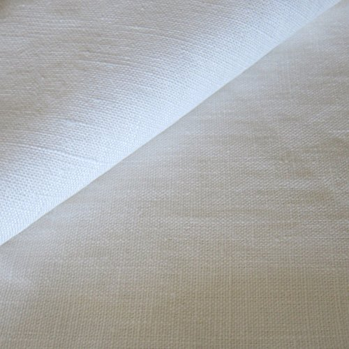 Tejidos Flor Márquez. Tela por Metros. LINO 100%. SemiBlanco. Calidad Superior: 260gr/m2. Ancho 152cm. Largo 200cm. (1,52_x_2_mts). Tejido Fabricado en Barcelona (España). Tradición Textil.