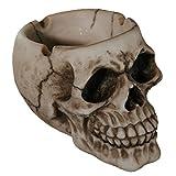 OOTB Skull Ashtray, Polyresin, Multi-Colour, 10 x 6 x 12 cm