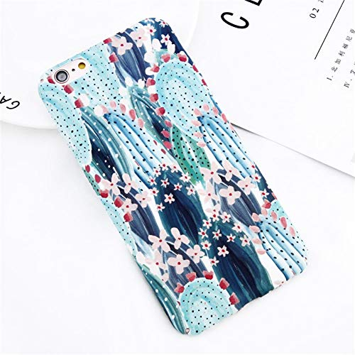KDNNN Telefon case für iPhone x xr xs max 8 7 6 6 s Plus Cartoon Blume Blatt kaktuspflanze Pflanze ultradünne Harte pc Cover Cases -