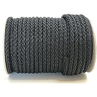 AUSVERKAUF WEIß geflochten 4mm,6mm,8mm Polyester Schnüre Tau Seile