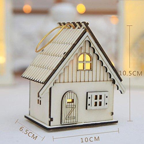 mamum Weihnachten Geschenk LED Magic Luminous Cabins Holz hell Ornaments Schreibtisch Wand Lampe Vintagelook book-shaped Schreibtisch Lampe, holz, B, Einheitsgröße