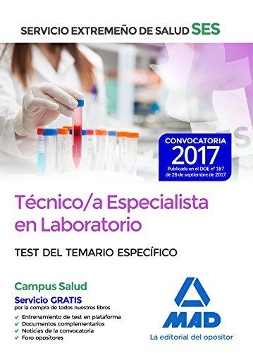 Técnico/a Especialista en Laboratorio del Servicio Extremeño de Salud (SES). Test de materias específicas