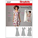Simplicity 2247 - Patrones de costura para hacer vestidos (BB 20W-28W)