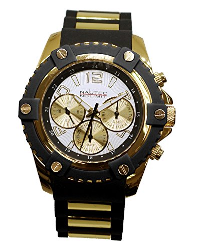 Nautec GLAC2-QZ-RBGD-WH No Limit Men's Watch Glacier 2 Analogue Quartz Rubber
