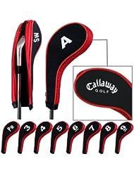 Callaway capuchon de golf avez nuque long zippé 10pcs Noir/rouge MT/CL03
