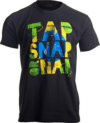 «Tap, Snap, or Nap» (Ríndete, pártete o KO) - Humor para jujitsokas - Jiu-Jitsu brasileño BJJ Camiseta Unisex para Hombre Medio Negro - Medio - M