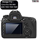 #6: Taslar Tempered Glass Screen Guard Protector for Canon EOS 70D 80D 650D 700D 750D 760D (Transparent)