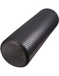 TOPQSC Rodillo de Espuma, poste de yoga,Rodillos de Pilates para el Masaje, 36\19inches (los 90\45cm) Ideal para el Yoga, Pilates, Liberación de Myofascial, Alivio del Dolor del Músculo(45CM)