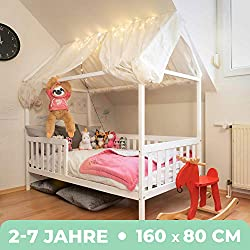 Kiefernholz Massivholz inkl LULU M/ÖBEL Chrisi Kinderbett Jugendbett Juniorbett Bett 160x80 cm oder 140x70 cm Matratze und Schublade. Grau, 140x70