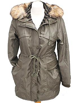YIYANHANDONG by Vincenza - Chaqueta de invierno con capucha para mujer, tamaño S, M, L, XL