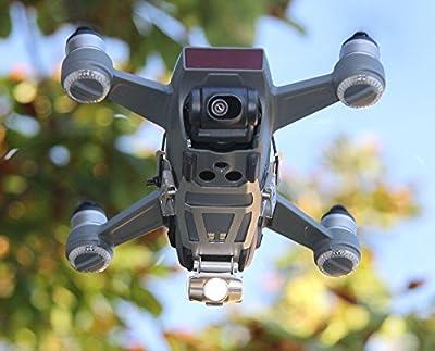 A Robot Drone Bottom Headlight/Photo Video DJI Spark Drone Accessories 240Lumen LED Light Camera Light, Never Fade (CRI > 90–80°, Adjust Tilt 90Minute Battery Life, 35g by Roboterwerk GmbH Germany