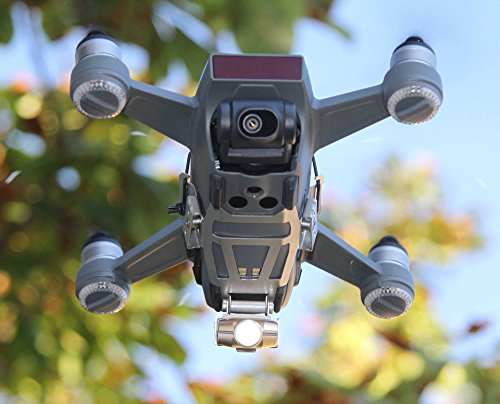 Robot de Drone Bottom Headlight/Foto y vídeo LED Luz (DJI Spark dron accesorios)–240lúmenes (Cámara iluminación), no destiñe (CRI > 90), 80° inclinable, 90minutos de duración de la batería, 35g