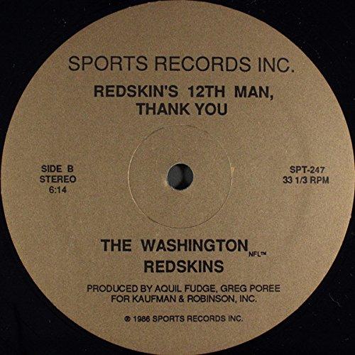 Redskin's 12th Man, Thank You [Vinyl Single 12''] (Redskins Single Washington)