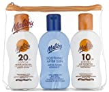 Malibu Sun Protection Travel Size Tanning Pack 1 x SPF 20 1 x SPF 10 Sun Tan Lotion & 1 x After Sun Aloe Vera Lotion Kit