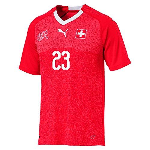 Puma Schweiz Home Trikot 2018 2019 + Shaqiri 23 - M