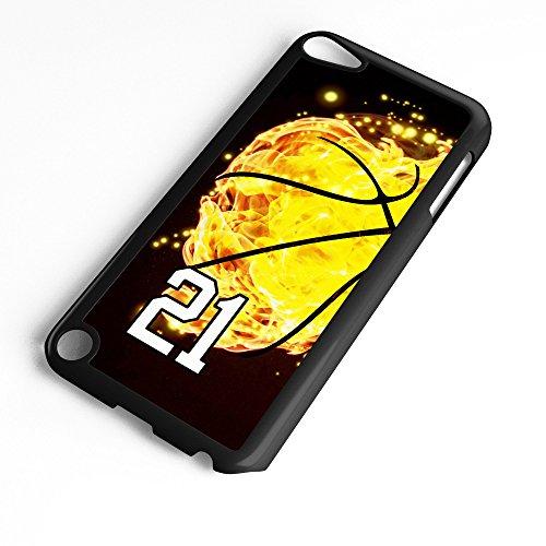 TYD Designs Schutzhülle für iPod Touch 6. Generation / 5. Generation, Basketball #8000, aus Kunststoff, Schwarz, Number 21, schwarz (Ipod 5. Generation Case Gelb)