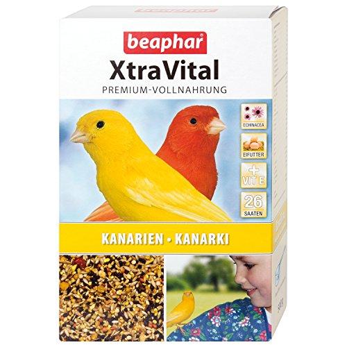 beaphar XtraVital Kanarien Futter | Köstliches Kanarienfutter mit Früchten & Eifutter | Mit Echinacea & Vitamine E | 26 unterschiedliche Saatsorten | 500 g