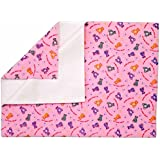 Rachna's Feel Dry Waterproof Single Bed Quick Drying Printed Bed Protector Mat - Large - Pink - 1.0M X 1.4M