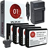 DOT-01 4X Brand Canon EOS 4000D Batteries And Charger For Canon EOS 4000D DSLR And Canon 4000D Battery And Charger Bundle For Canon LPE10 LP-E10