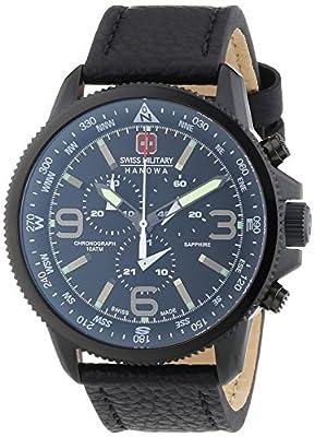 Swiss Military 6-4224.13.007 - Reloj de pulsera hombre, piel, color negro de Swiss Military