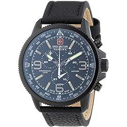 Swiss Military 6-4224.13.007 - Reloj de pulsera hombre, piel, color negro