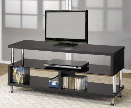 Plasma LCD TV Stehen, mit Chrom Akzente in schwarz Finish Vf-lcd