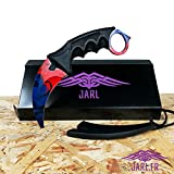 JARL Karambit Counter-Strike Globale Offensive - Real CSGO Knife Skin - Sammelmesser - Top Qualität - Jagdmesser - Survival Messer - CSGO Messer - CSGO IRL - JARL (DOPPLER FIRE ICE)