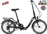 Spirit Faltrad Bend Matt-Schwarz 20 Zoll