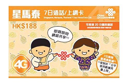 chinasim-4g-singapore-malaysia-thailand-7-days-voice-data-sim-prepaid-sim-karte-keine-registrierung-
