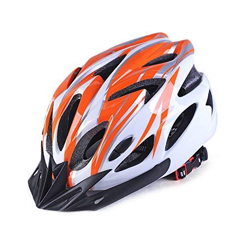 Tenuta Unica Del Casco Di Regolazione Del Casco Del Casco Della Bicicletta Di Progettazione A 18 Buche Di Un Pezzo Alta Qualità (Colore : Orange)