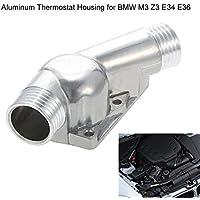 KKmoon Carcasa de Termostato de Aluminio con Junta para BMW M3 Z3 E34 E36