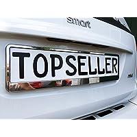 2 x Kennzeichenhalter Nummernschildhalter T Chrom Metallic Autozubehör Auto Car
