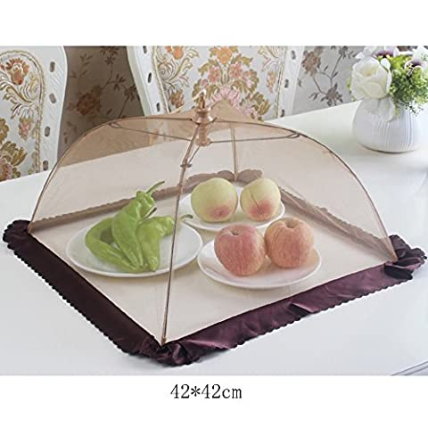 Insulation Foldable Table Cover Anti-fly Food Cover Round Food Hood Dinner Cover Umbrella (42 * 42cm) Pest