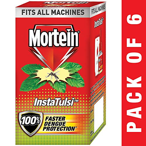 Mortein Insta5 Vaporizer Refill, Tulsi - 35 ml (Pack of 6)