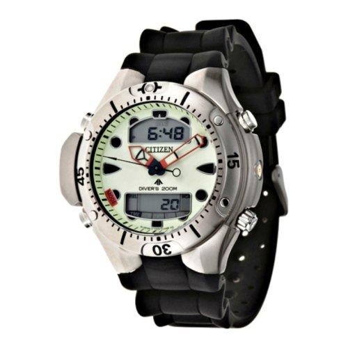 Citizen–JP1060–01W–Armbanduhr–Quarz Analog–Armband aus Polyurethan schwarz