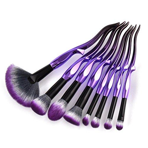 ESAILQ Kit de Pinceaux Maquillage 8pcs/set Yaksha- Brush Cosmétique Beauté & Make-up Make Up Brush Pinceau cosmétique de qualité Professionnel (A)