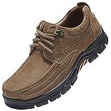 CAMEL CROWN Freizeitschuhe Walkingschuhe Low-Top Mokassins Slip on Loafers Bequeme Lederschuhe Männer für Arbeit Business-Kleid im Freien