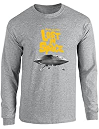 Pop Threads Lost In Space topographical Logo Long Sleeve T-Shirt by