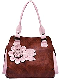 Fristo Brown And Pink Women Handbag(FRB-154)Brown And Pink