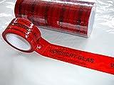 6x Packband Paketband Klebeband VORSICHT GLAS! je Rolle 50mmx66m
