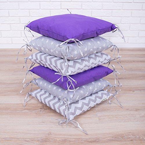 Amilian Baby Nestchen Bettumrandung 210 cm Design28 Bettnestchen Kantenschutz Kopfschutz für Babybett Bettausstattung