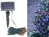 Lunartec Solarlichterkette bunt: 4-farbige Solar-LED-Lichterkette mit 200 LEDs und Timer, IP44, 20 m (Farbwechsel Lichterkette)