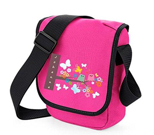 """TTS Kindergartentasche """"Eulen auf Ast"""" mit Wunschtext Pink"""