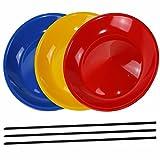 3 Piatti da giocoliere colorati con bacchetta in plastica, - SchwabMarken …
